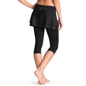 Athleta | Split Time 2 in 1 Skirt Capri Legging S